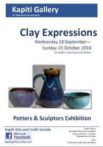 2016-09 Clay Expressions poster