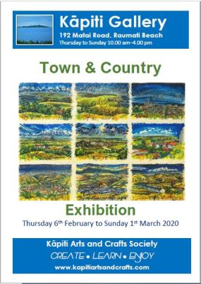 2020-02 Town & Country Exhibition poster