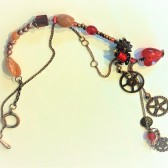 Necklace - Gearwork Hearts (2)